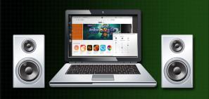 LaptopwSpeakersShutterstock
