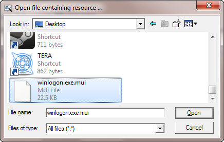 Tweak a file with Resource Hacker