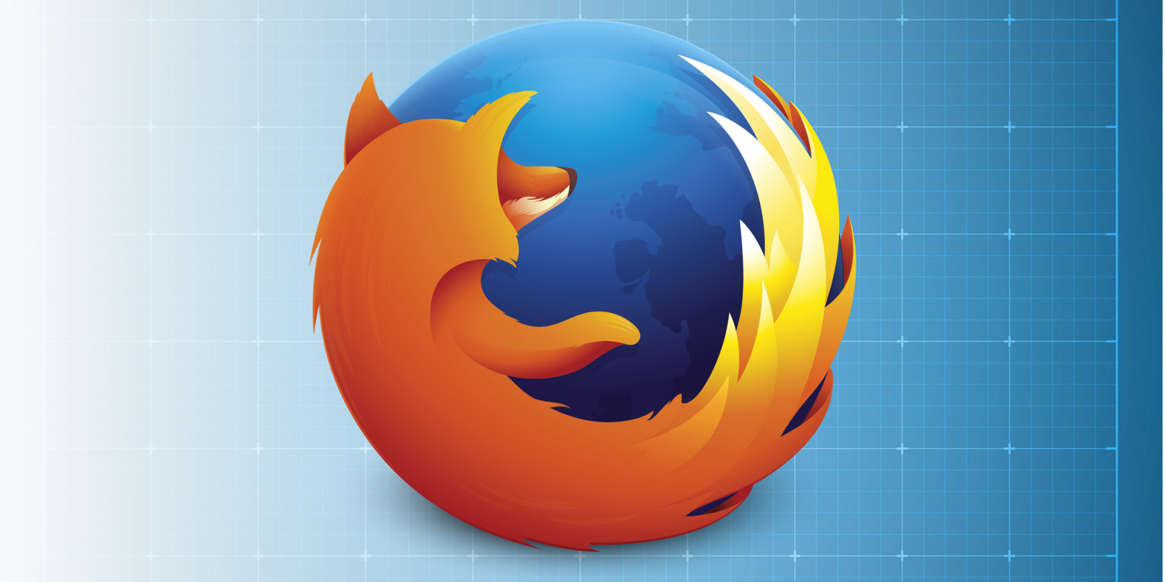 Close-up of Firefox logo