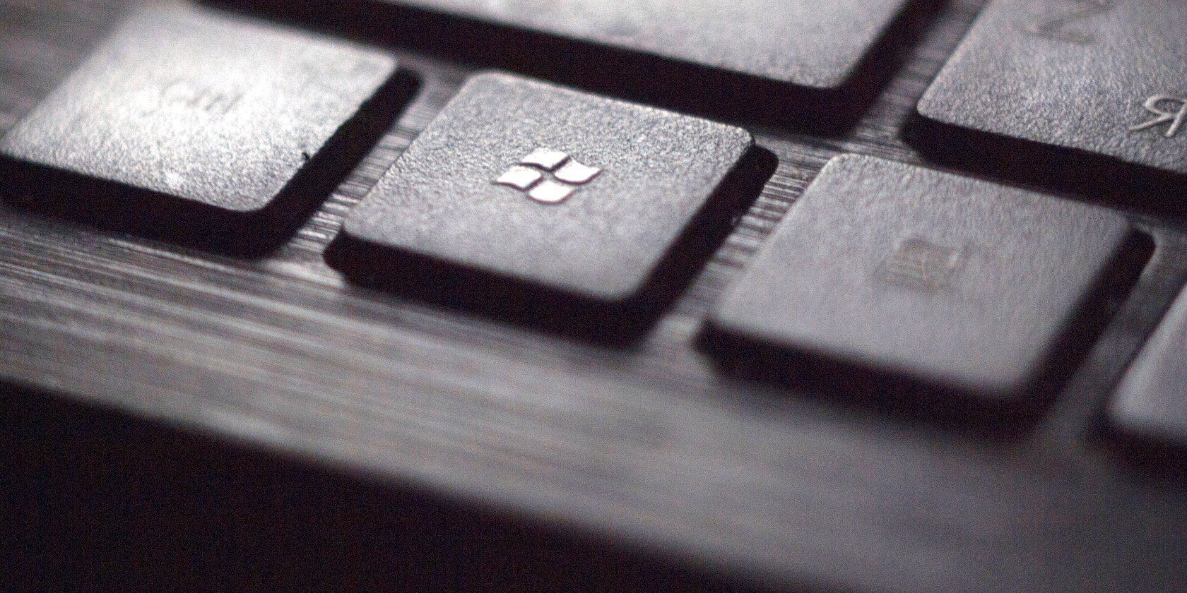Keyboard with Windows key in focus