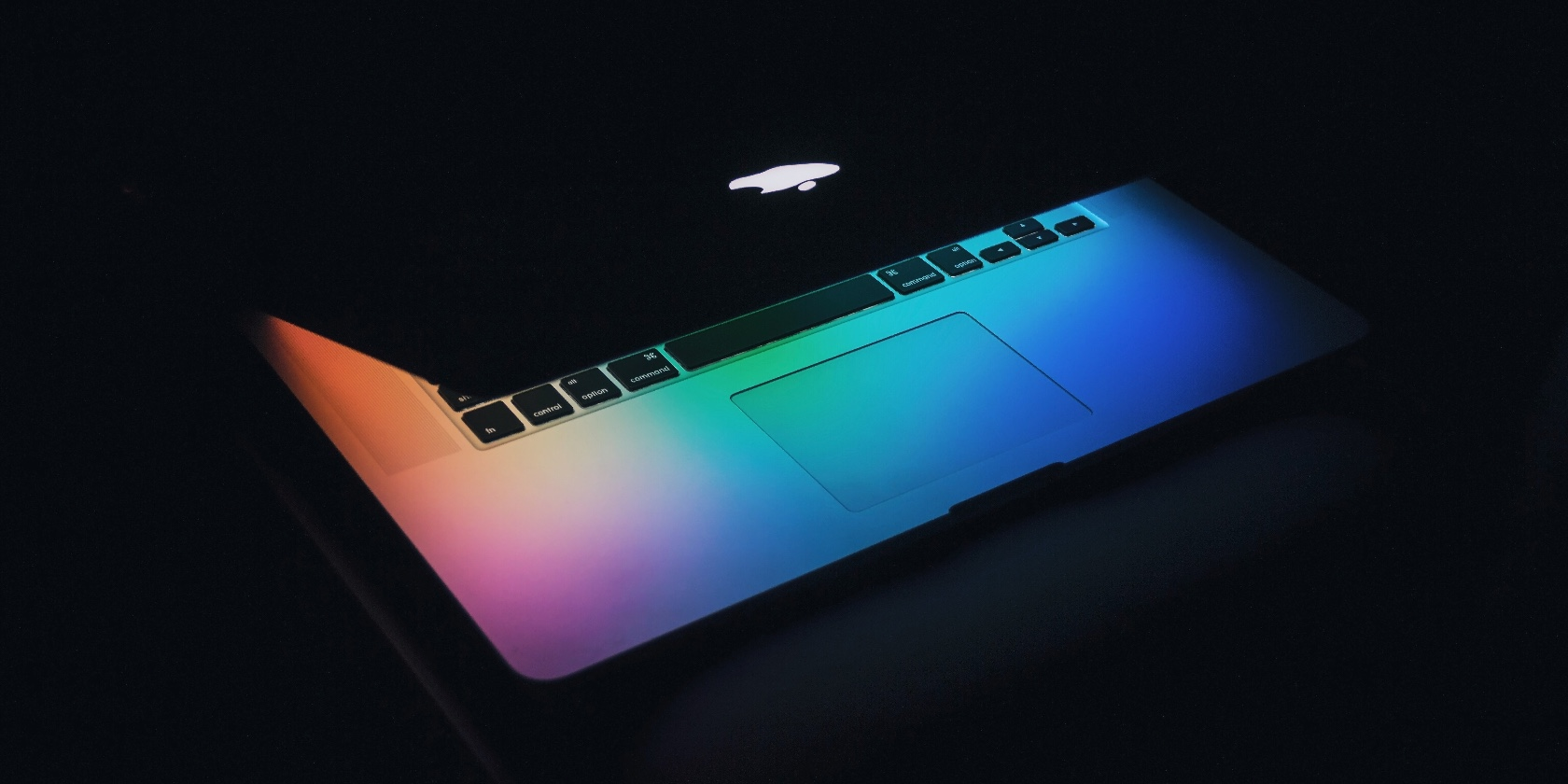 Half-open MacBook