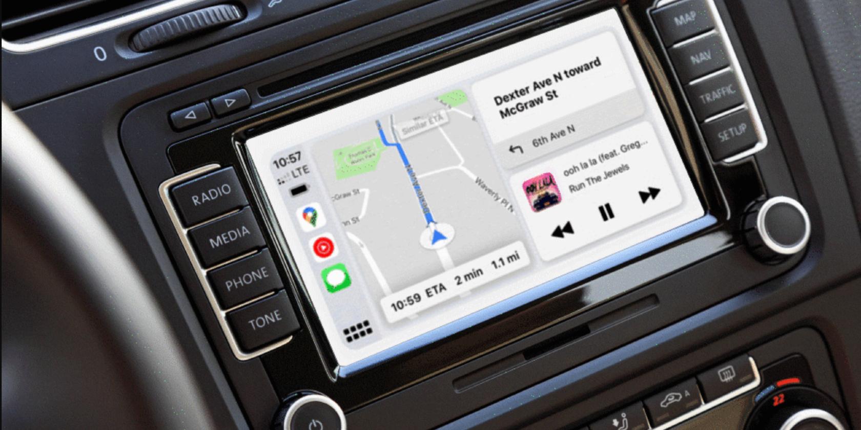 Google Maps CarPlay Dashboard